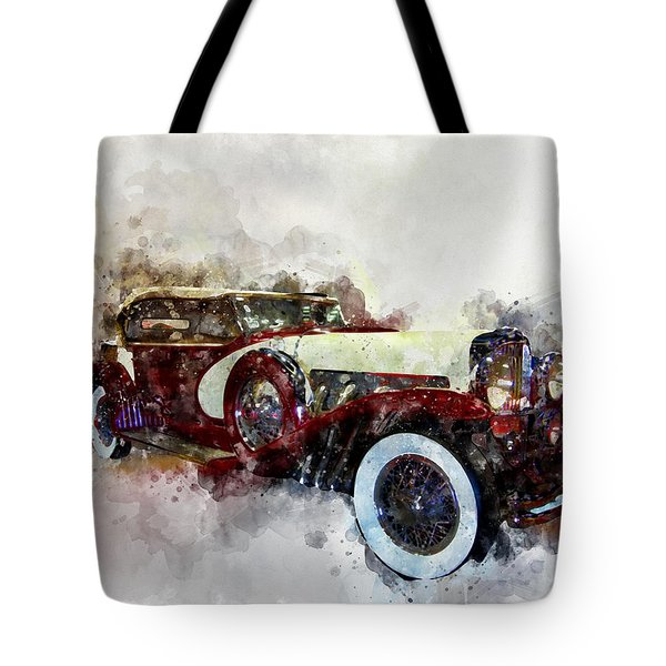 Duesenberg Watercolor Tote Bag