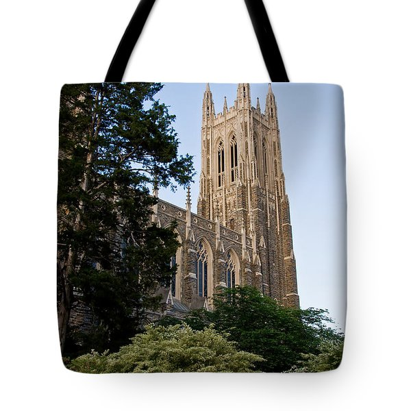 Duke Chapel Side View Tote Bag