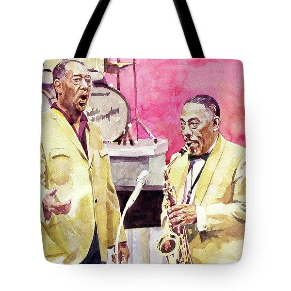 Duke Ellington And Johnny Hodges Tote Bag