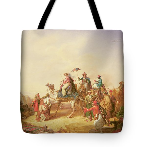Duke Ernest Of Saxe Cobourg Gotha's Tour To Egypt Tote Bag