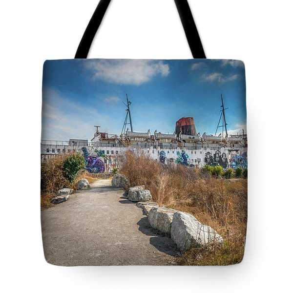 Tote Bag featuring the photograph Duke Of Lancaster Graffiti by Adrian Evans