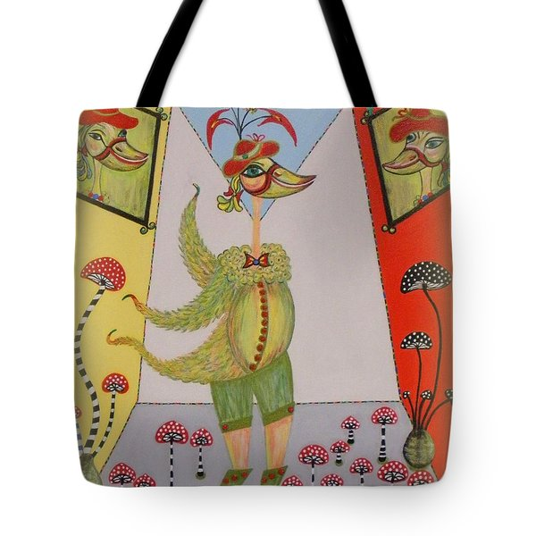 Tote Bag featuring the painting Duke's Adventure by Marie Schwarzer