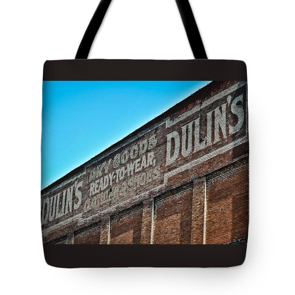 Tote Bag featuring the photograph Dulin's Dry Goods by Greg Jackson