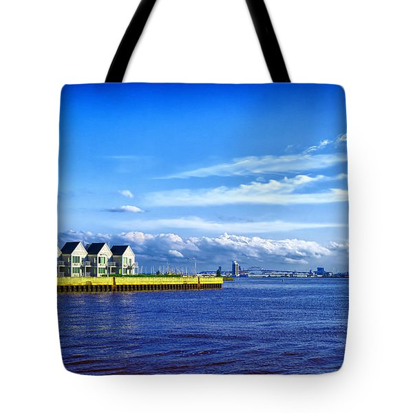Duluth Minnesota Harbor Tote Bag