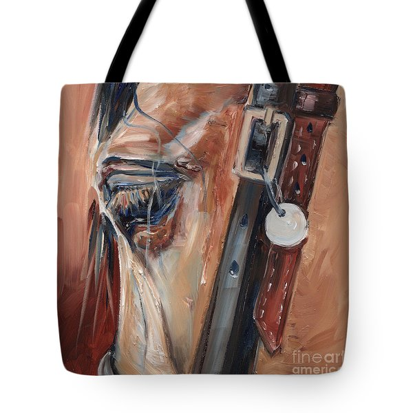 Dun Horse Eye Oil Painting Tote Bag