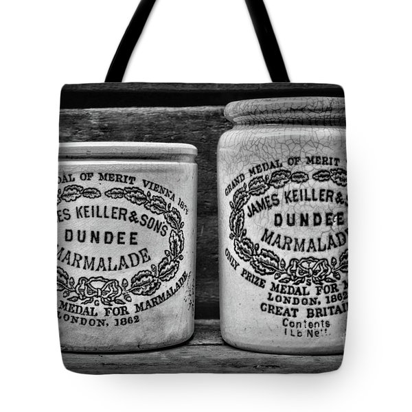 Dundee Marmalade Country Kitchen Black And White Tote Bag