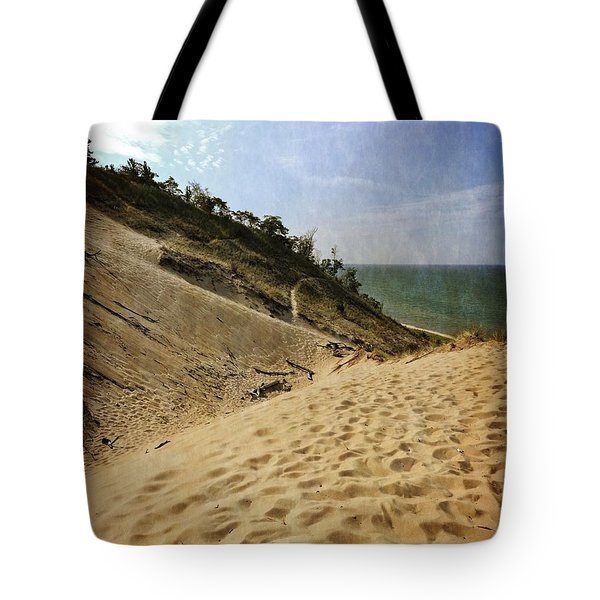 Tote Bag featuring the photograph Dune And Blue Sky 2.0 by Michelle Calkins