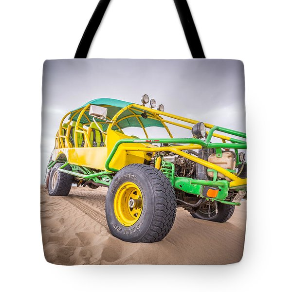 Tote Bag featuring the photograph Dune Buggy by Gary Gillette
