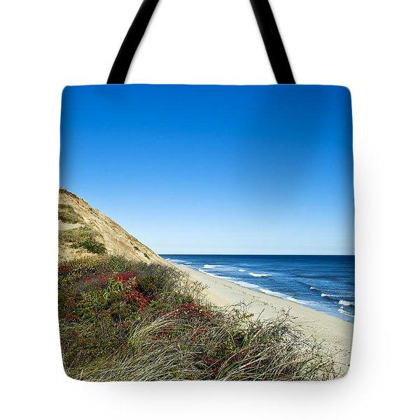 Dune Cliffs And Beach Tote Bag by John Greim