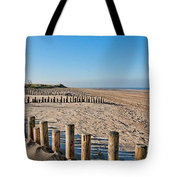 Dune Conservation Holme Dunes North Norfolk Uk Tote Bag by John Edwards