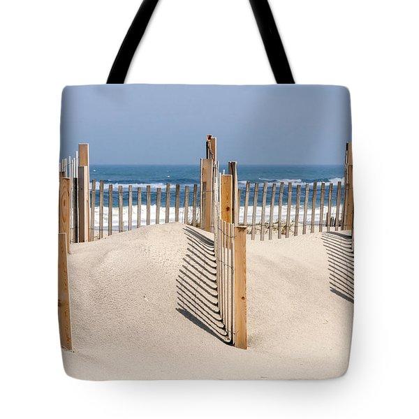 Dune Fence Landscape Tote Bag