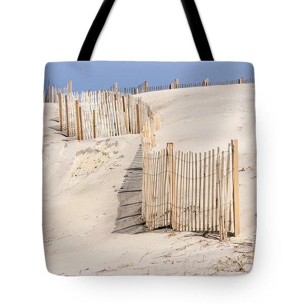 Dune Fence Portrait Tote Bag