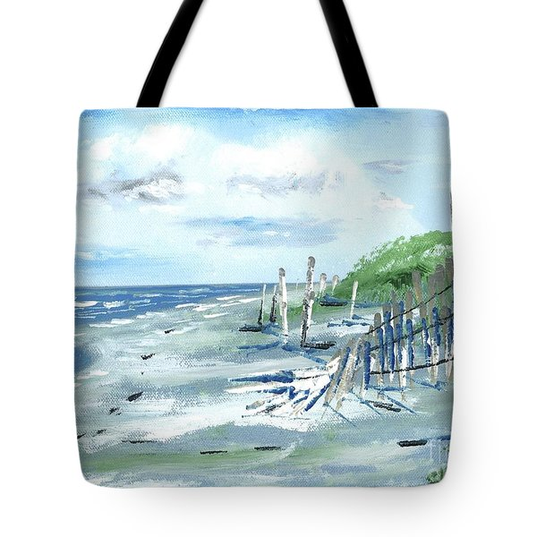 Dune Fences Isle Of Palms Tote Bag