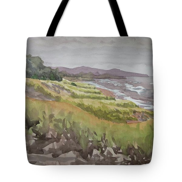 Dune Grass Field Tote Bag by Bethany Lee