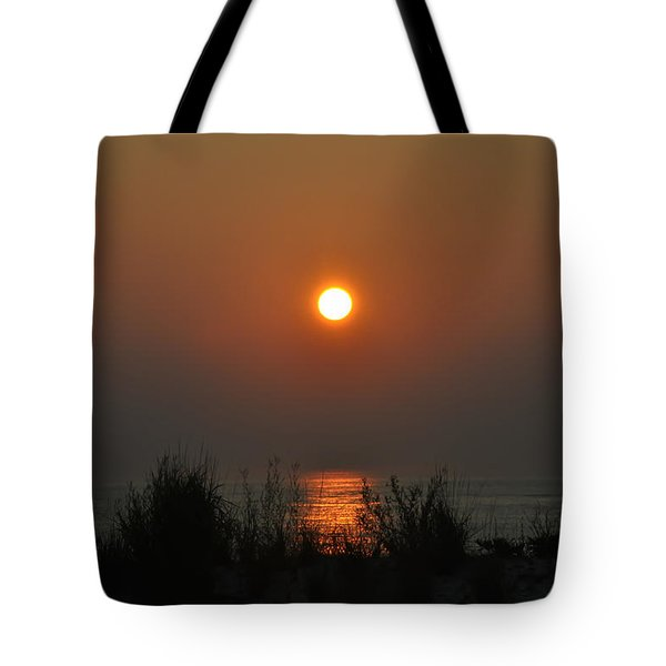Dune Grass Sunrise Tote Bag by Bill Cannon