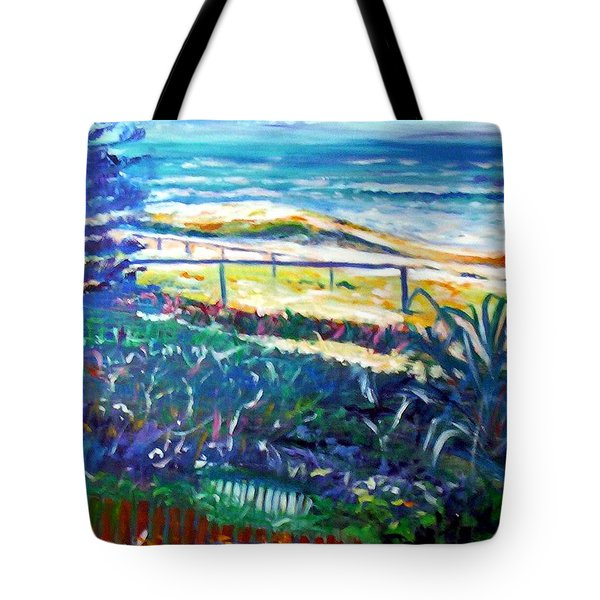 Tote Bag featuring the painting Dune Grasses by Winsome Gunning