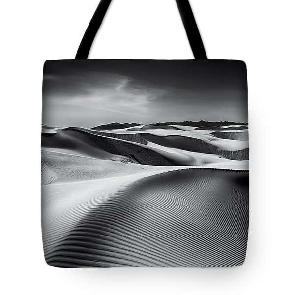 Dune Lines In Monochrome Tote Bag