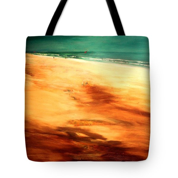 Tote Bag featuring the painting Dune Shadows by Winsome Gunning