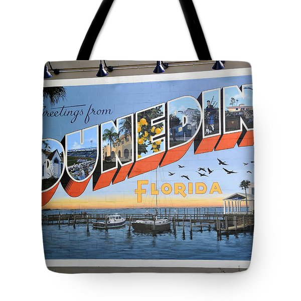 Dunedin Florida Post Card Tote Bag