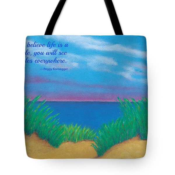 Dunes At Dawn - With Quote Tote Bag