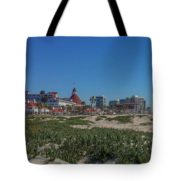 Dunes At The Del Tote Bag by Mark Barclay