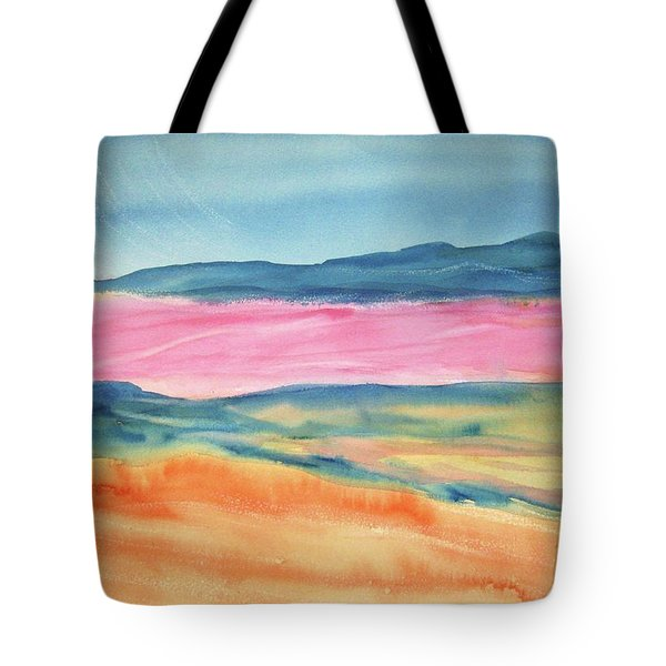 Tote Bag featuring the painting Dunes by Ellen Levinson