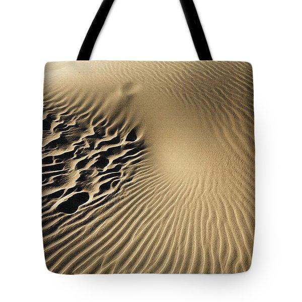 Dunes Footprints Tote Bag