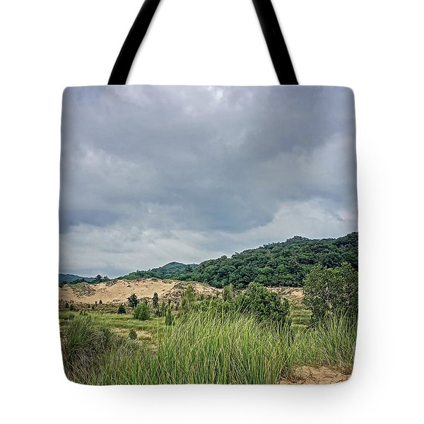 Tote Bag featuring the photograph Dunes Or Doom by Kathi Mirto