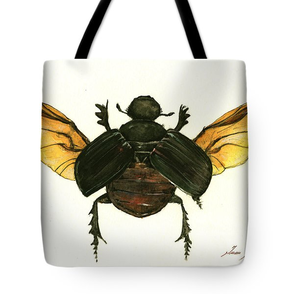 Dung Beetle Tote Bag by Juan Bosco