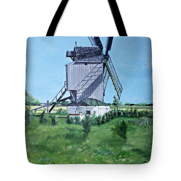 Dunkerque Windmill North Of France Tote Bag by Francine Heykoop