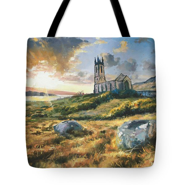 Dunlewy Church Tote Bag by Conor McGuire