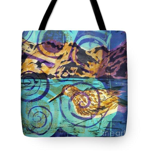 Dunlin On Mudflats Tote Bag by Cynthia Lagoudakis