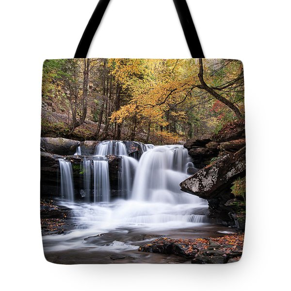 Tote Bag featuring the photograph Dunloup Falls - D009961 by Daniel Dempster