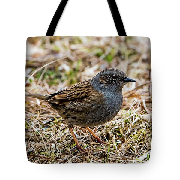 Tote Bag featuring the photograph Dunnock by Torbjorn Swenelius