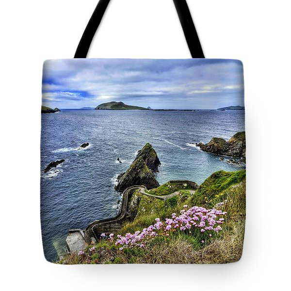 Dunquin Flowers  Tote Bag