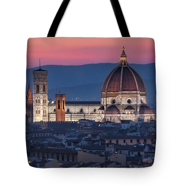 Tote Bag featuring the photograph Duomo Di Firenze by Brent Durken