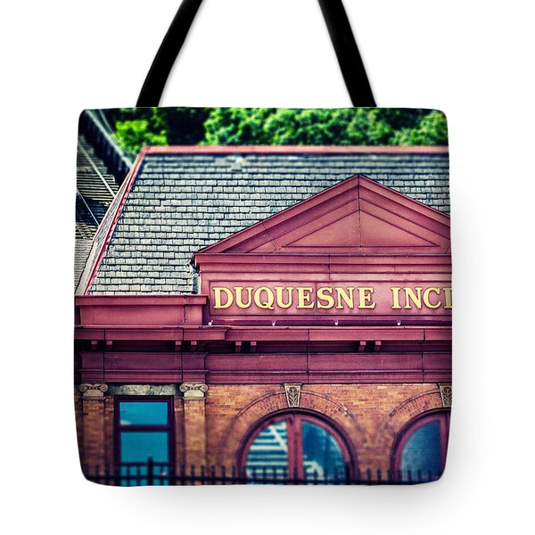 Duquesne Incline Of Pittsburgh Tote Bag by Lisa Russo