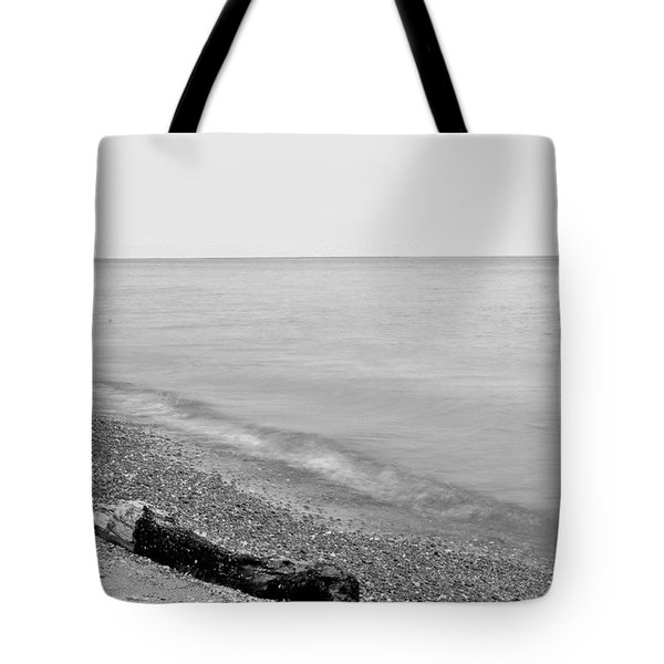 Durand Beach In Bw Tote Bag