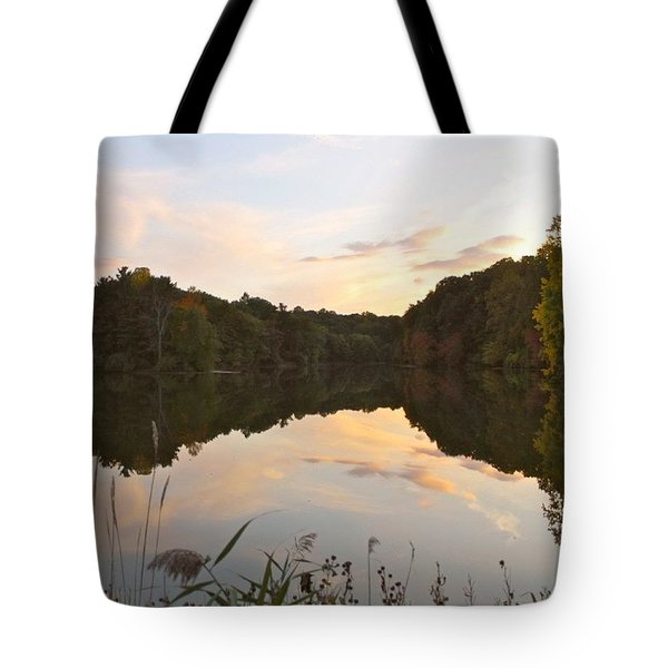 Durand Lake At Twilight  Tote Bag