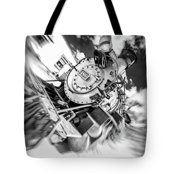 Durango Silverton Train Arrives Tote Bag