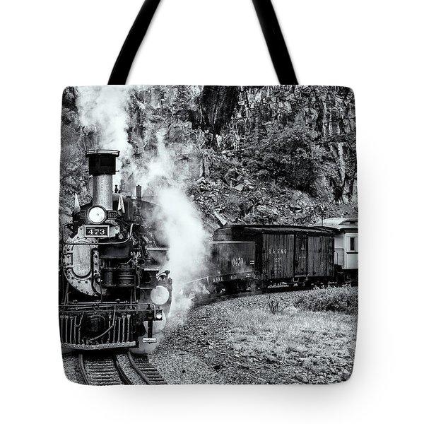 Durango Silverton Train Bandw Tote Bag