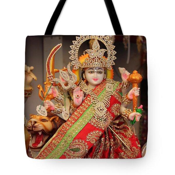 Durga In Madho Bhag, Mumbai Tote Bag by Jennifer Mazzucco