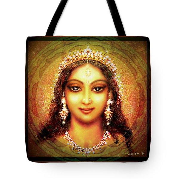 Durga In The Sri Yantra Tote Bag