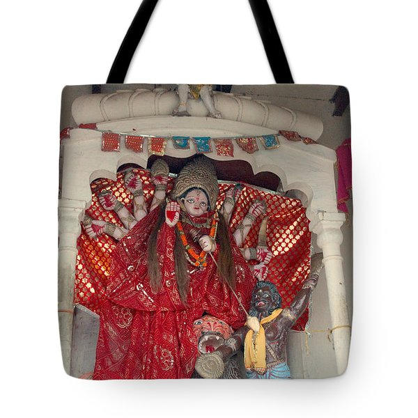 Durga On The Yamuna, Vrindavan Tote Bag