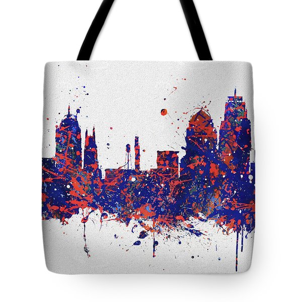 Durham Colorful Skyline Tote Bag