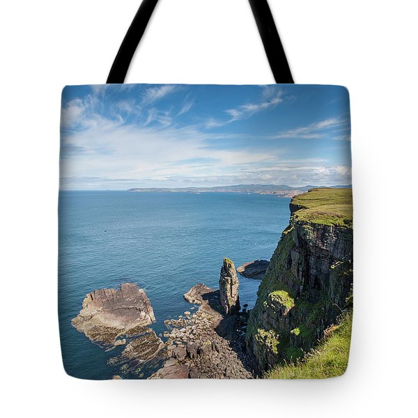 Tote Bag featuring the photograph Handa Island - Sutherland by Pat Speirs