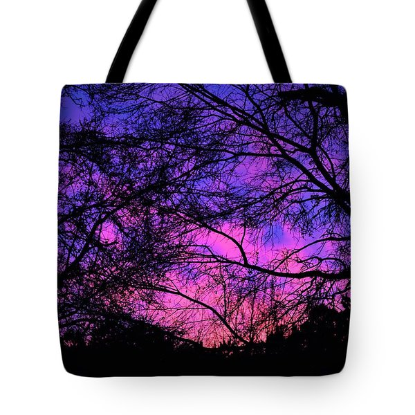 Dusk And Nature Intertwine Tote Bag