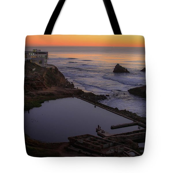 Dusk At Sutro Baths Tote Bag