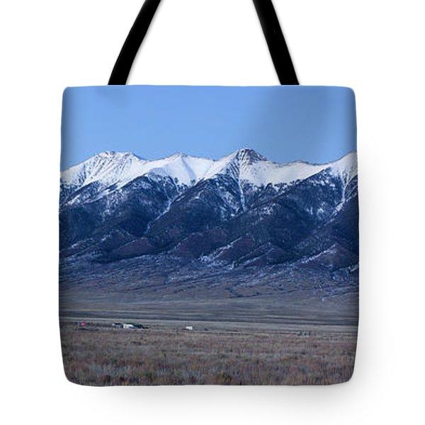Dusk At The Sangre De Cristo Mountains Tote Bag