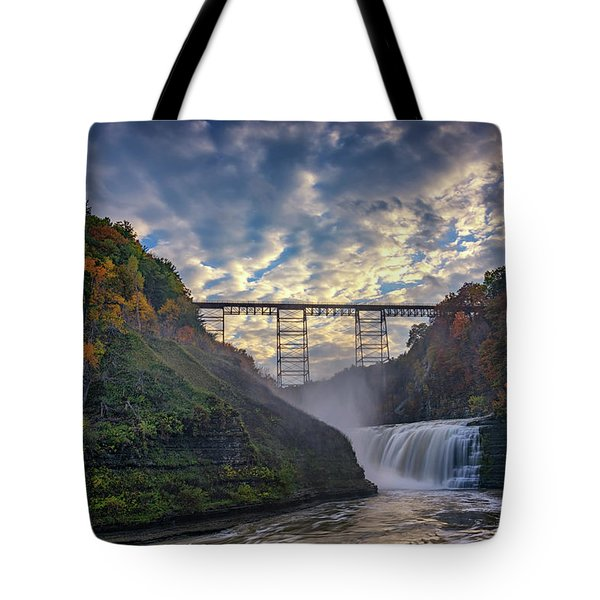 Dusk At The Upper Falls Tote Bag